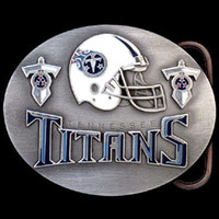 Tennessee Titans NFL Enameled Belt Buckle