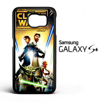 The Clone Wars film poster Z0599 Samsung Galaxy S6 Case