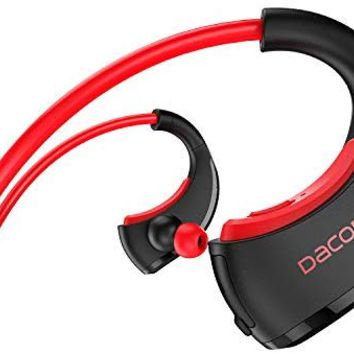 Sports Headphones, DACOM Running Headphones IPX5 Waterproof Headphones Bluetooth 4.1 Wireless Earphones w/Mic 8 Hour HD Stereo Workout Headphones for Gym Running, Noise Cancelling Wireless Headphones