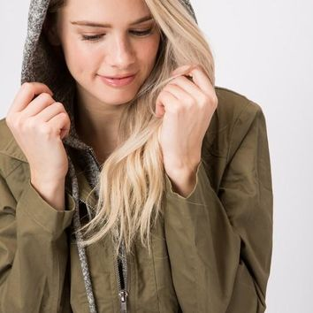 Shades of Autumn Jacket - Olive