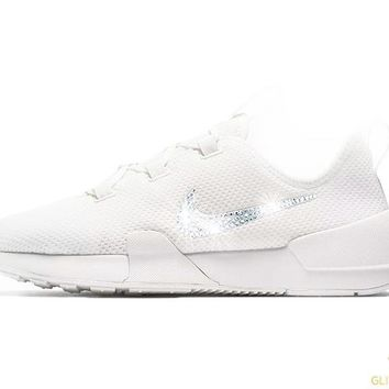 CLEARANCE - Nike Ashin Modern Run + Crystals - White - Size 8 (Slight yellowing near sole - see additional picture)