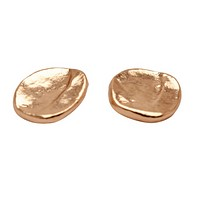 Medallion Studs Earrings in Rose Gold