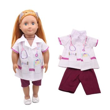 Baby clothes 18-inch American girl doll doctor pay 2 times children's birthday present
