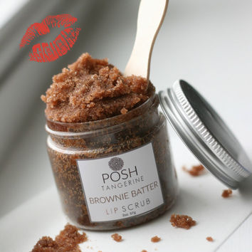 Posh Tangerine ~ Brownie Batter Lip Scrub ~