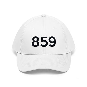 Kentucky 859 Area Code Embroidered Twill Hat BLACK