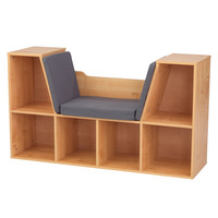 KidKraft Bookcase with Reading Nook - Natural - 14232