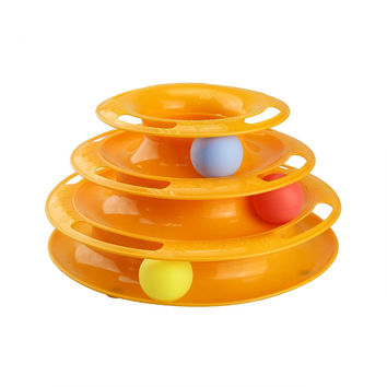Tower of Tracks Crazy Amusement Petstages Tower of Tracks Pet Toys Three Layers Intelligence Cat Toy