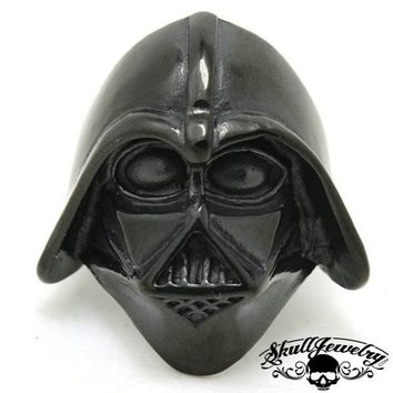 "BLACK ""Darth Vader"" Stainless Steel Ring (589)"