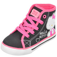 Hello Kitty Girls -Sweet Applique Hi-Top Sneakers (Toddler Sizes 11 - 12)-hek02503