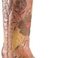 Corral Ladies Distressed Brown with Daisy Embroidery Snip Toe Western Boots | Cavender's Boot City
