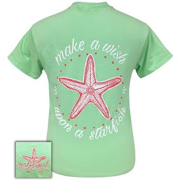 Girlie Girl Originals Preppy Wish Upon A Starfish Mint T-Shirt