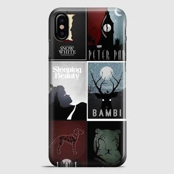 Minimalist Disney Film Posters iPhone X Case