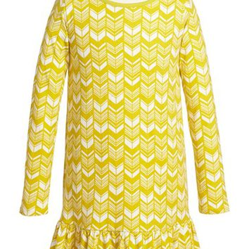 Girl's Tea Collection 'Komani' Drop Waist Long Sleeve Dress,