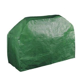 61'' Grill Cover Garden Patio Outdoor Waterproof Dustproof BBQ Barbecue Gas Grill Wagon Burner Cover Table cover (Green, 61x24x38 Inches)