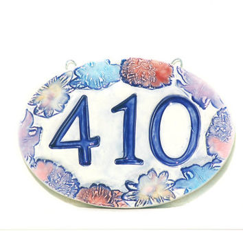 Ceramic Address Sign - House Numbers, New Home Address