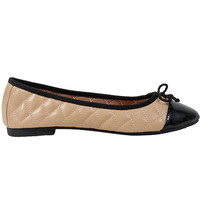 Wanted Lotus - Natural Quilted Ballet Flat