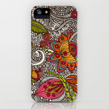 Random Flowers iPhone & iPod Case by Valentina Harper