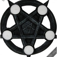 Pentagram tea-lights candle holder 26cm | HOME & INTERIOR | GOTHIC, METAL, PUNK, LOLITA & STEAMPUNK FASHION ACCESSORIES FOR MEN AND WOMEN