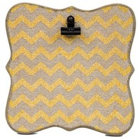 Burlap & Yellow Glitter Chevron Message Clip Board | Shop Hobby Lobby