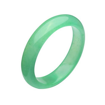 Parma77 Burmese Fashion Light Green Jade Jadeite Queen Bangle Bracelet Christmas Gift (Large)