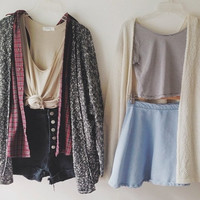 Mystery Oversized Grunge Hipster Cardigan/Sweater