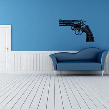 Colt Wall Sticker Decal Hand Gun Firearm Colt 1911 Gun Wall Art Decor 3815