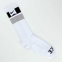 Nike Sb Elite Skate Mens Dri-Fit Crew Socks White One Size For Men 22211015001