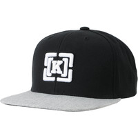 KR3W Brackets Starter Black & Heather Grey Snapback Hat