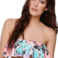 Eidon Vice Frill Bandeau Top - Womens Swimwear - Multi