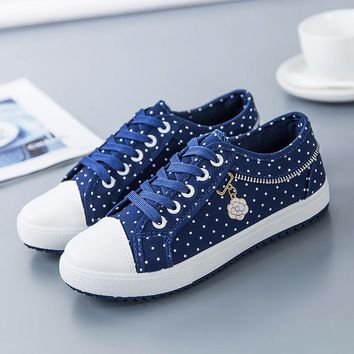 Fashion  shoes  polka dot  sneakers women shoes