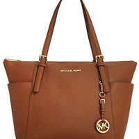Michael Kors Handbag, Jet Set East West Top Zip Tote - Tote Bags - Handbags & Accessories - Macy's
