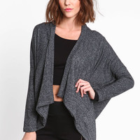 SPOTTED TERRYCLOTH FLYAWAY CARDIGAN