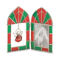 Angel Charm Stained Glass Picture Frame