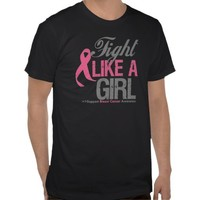Fight Like A Girl Breast Cancer Awareness Tshirt from Zazzle.com