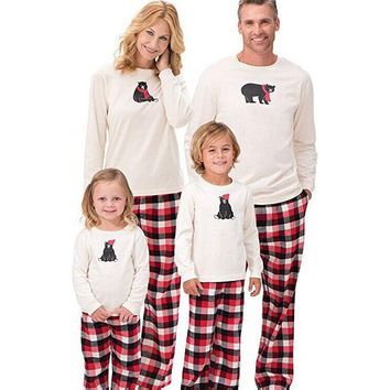 Family Christmas Matching Bear Pajama Set