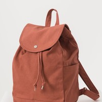 Canvas Drawstring Backpack | Terracotta