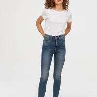 Super Skinny High Jeans - Denim blue/washed - Ladies | H&M US