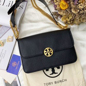 Beauty Ticks Tb Tory Burch Women's Leather Inclined Shoulder Bag #4640