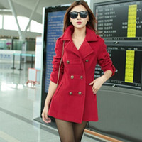 Korean Women's Fashion Slim Coat Windbreaker [9126621708]