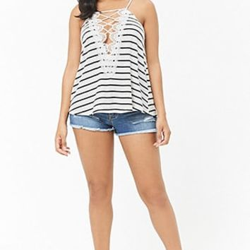 Striped Crochet Cami