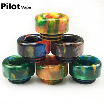 Pilot Vape Electronic cigarette Drip Tips 810 Thread Wide Bore Driptip for Goon 528 Kennedy Mad dog Atomizer Colorful Mouthpiece