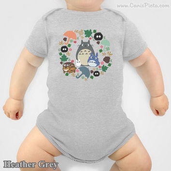Totoro Onesuit Kawaii My Neighbor Anime Grey Manga Troll Hayao Miyazaki Studio Ghibli Baby Shower Gift Infant Newborn Boy Girl Catbus Soot
