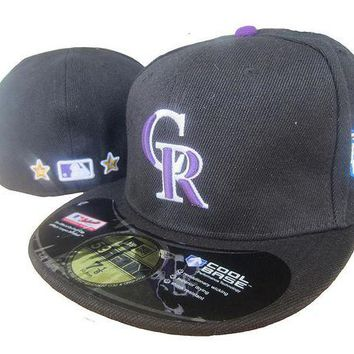 DCCKBE6 Colorado Rockies Cool Base 59FIFTY MLB Cap All-Star Patch Black