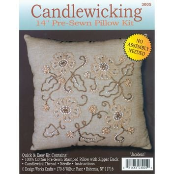 "Jacobean-Stitched In Thread Design Works Candlewicking Kit 14""X14"""
