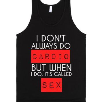 I Don't Do Cardio-Unisex Black Tank