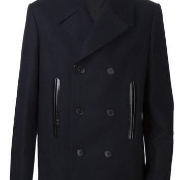 balenciaga double breast peacoat 2
