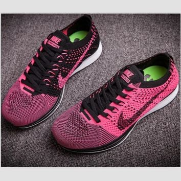 """NIKE"" Net surface breathable sneaker soft-soled running casual shoes Roses"