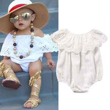 Newborn Toddler Baby Girl Clothing Top Jumpsuit Bodysuit Short Sleeve Cute Infant Clothes Outfit Sunsuit Baby Girls