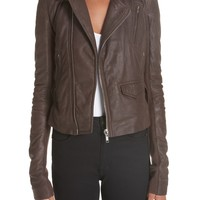 Rick Owens Stooges Belted Leather Jacket | Nordstrom