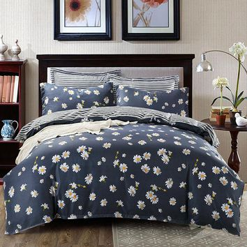 Flower Bedding Sets Fresh Style Coverlet Quilt Duvet Cover Sheet Pillowcases Single Double Queen King Size 2017 New Quality